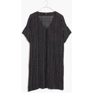 Madewell novel chalkboard stripe dress